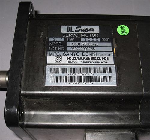 P60B13200LCX2C - 3.1kW Servo Motor (Kawasaki)