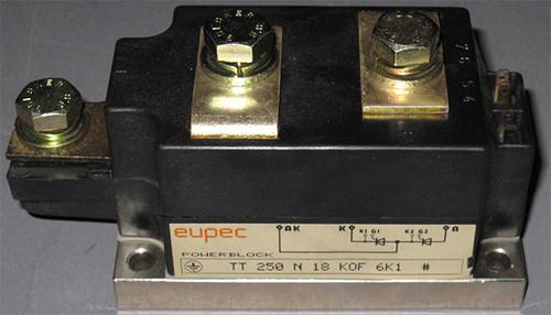 TT250N18KOF - Dual SCR / Thyristor (Eupec, now Infineon) - Used
