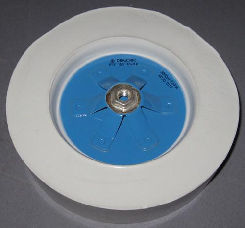 PEF155-3000 - 16kVp 3000pF +-20% R230 - RF Ceramic Transmitting Capacitor (Vishay Draloric)