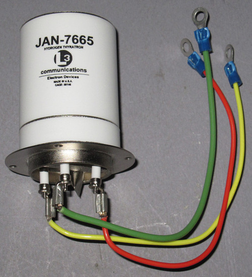 JAN-7665 / L-4676 - 16kVp 350Ap (0.5A avg) Hydrogen Thyratron (L3 Communications)