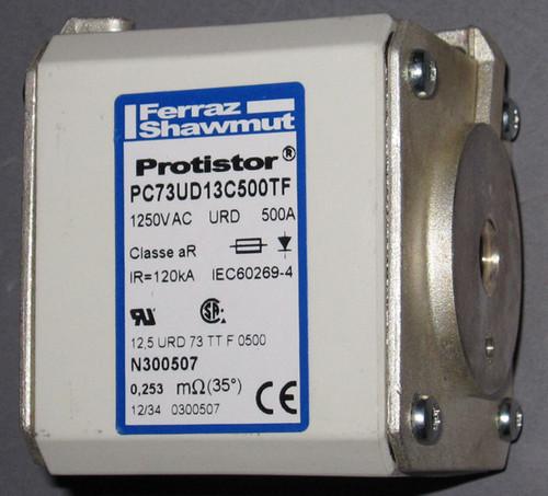 PC73UD13C500TF / N300507 / 12,5URD73TTF0500 - 1250VAC 500A Fuse (Ferraz Shawmut, now Mersen)