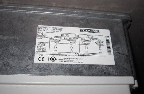 VS1SP410-4B -  10HP Washdown Inverter Drive (Baldor)