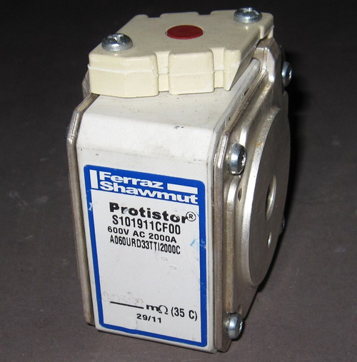 A060URD33TTI2000C / S101911CF00 - 2000A 600VAC Fuse (Ferraz Shawmut, now Mersen) - Used