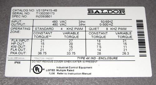 VS1SP415-4B - 15HP Washdown Inverter Drive (Baldor)