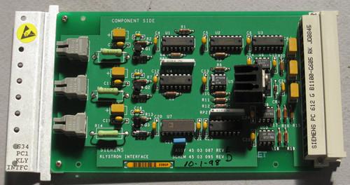 4503087 Rev E - Klystron Interface (Siemens) - Used