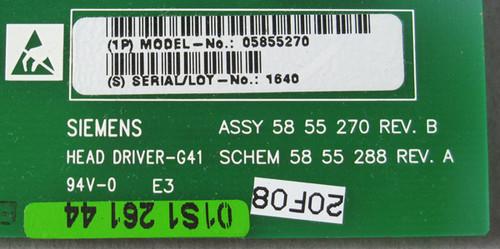 5855270 Rev B - G41 Head Driver (Siemens) - Used