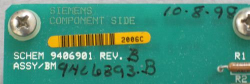 9406393 Rev B - Circuit Board (Siemens) - Used