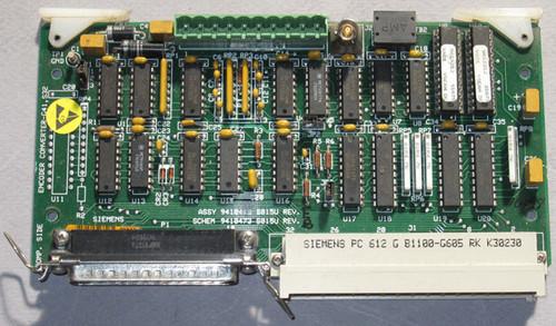 9410465 S015U Rev E - G41, S32 Encoder Converter (Siemens) - Unit 2 - Used