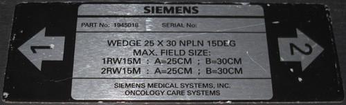 1945042 B, 1945034 B, 1945026 B, 1945016 B - Set of four wedges (Siemens) - Used