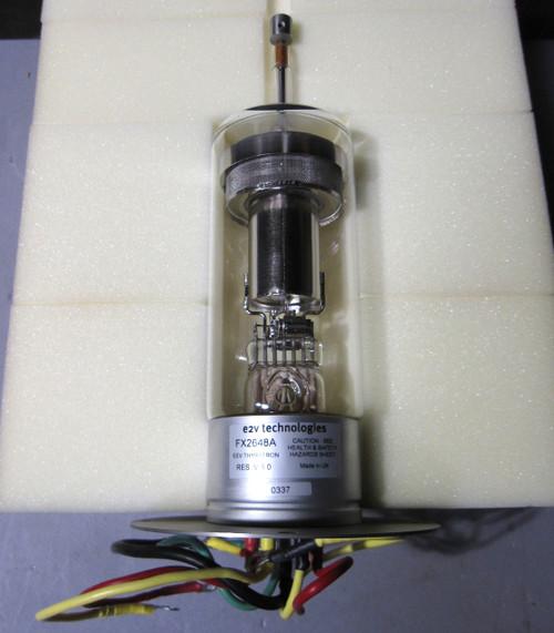 FX2648A - Thyratron, 25kV peak, 1000A peak, 1A average (E2V Technologies / Marconi)