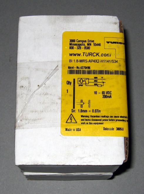 BI1.8-WRS-AP4x2-H1141-S34 BI18WRSAP4X2H1141S34 - Proximity Switch (Turck)