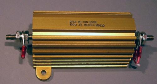 Power Resistor, 100 Ohm, 100 Watt, +/- 3%, Dale RH-100 - Used