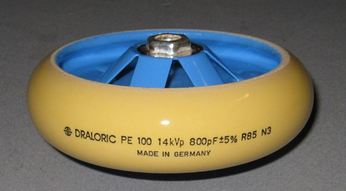 PE100 14kVp 800pF +-5% R85 N3 - RF Ceramic Transmitting Capacitor (Vishay Draloric PE100-800)