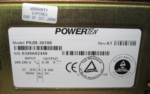 P62B-30100 - programmable DC power supply (Powerten), 30V 100A