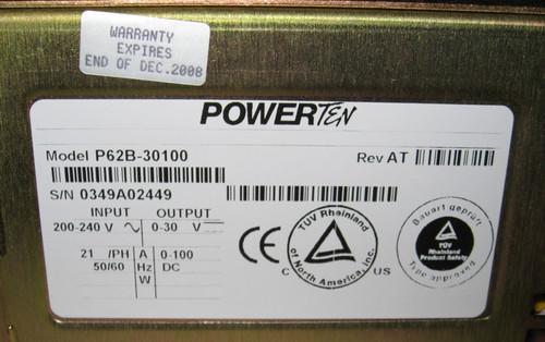 P62B-30100 - programmable DC power supply (Powerten), 30V 100A