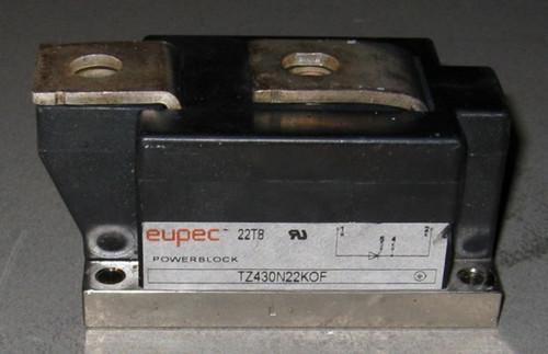 TZ430N22KOF - SCR, 2200V 430A (average) 1050ARMS (Eupec) - Used