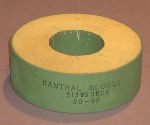 913WS3R0K - (Kanthal Globar) - 3 Ohm, non-inductive bulk ceramic - Used