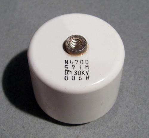 High-Voltage Ceramic Capacitors, 30kV 590pF (Murata) - Used