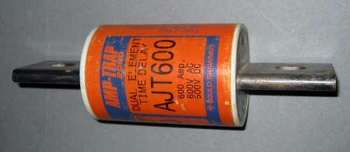 AJT600 - Fuse, 600A, 600VAC / 500VDC (Gould Shawmut) - Used