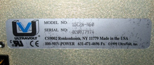 Ultravolt 15C24-N60 - 15kV 60W Capacitor Charging Power Supply