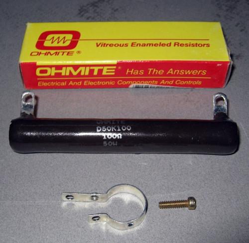 D50K100 - 100-Ohm 50W Adjustable Tap Power Resistor (Ohmite)