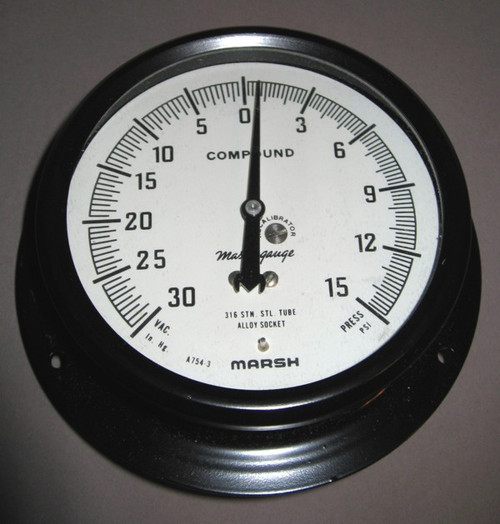 E3310 - Compound Pressure Gauge (Marsh Instrument Company)
