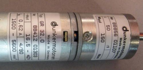 GR32.0 DC Motor with 50:1 Gearbox (Dunkermotoren)