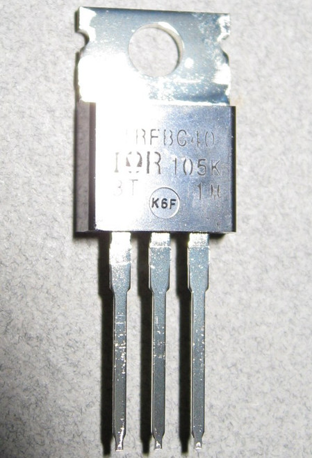 IRFBC40 - 600V 6.2A Fast Switching Power MOSFET (International Rectifier)
