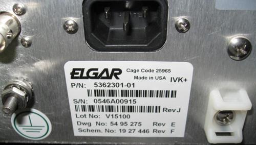 5362301-01 - AUX/INTLK K2 Chassis (Elgar / Siemens)
