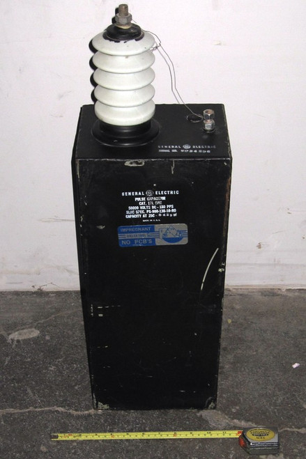 17L9PH - Pulse Capacitor - 50kVDC 0.043uF (General Electric) - Used