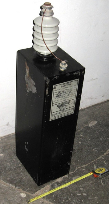 33695 - Pulse Capacitor - 45kVDC 0.062uF (Maxwell) - Used