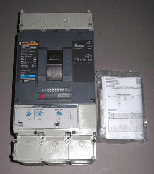 NSJ600L - 600V 600A Circuit Breaker with STR23SP trip unit (Merlin Gerin)