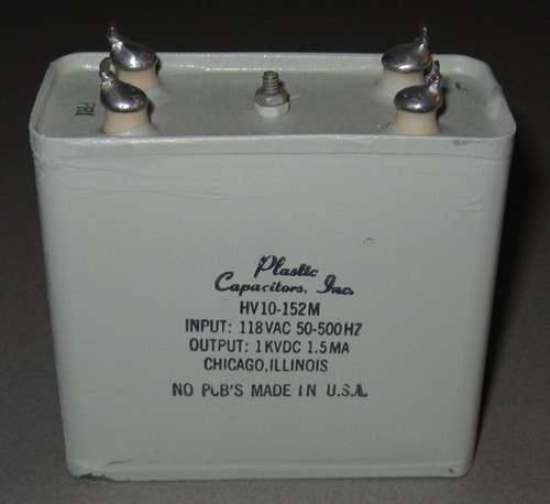 HV10-152M - 1kV 1.5mA DC Power Supply (Plastic Capacitors Inc)