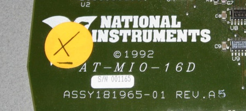 AT-MIO-16D - Circuit board (National Instruments) X - Used