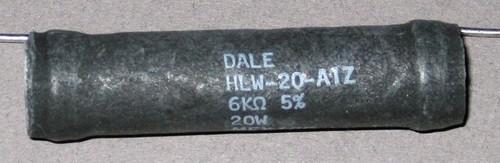 Power Resistor, 6 kOhm, 20 Watt, +/- 5% - HLW-20-A1Z (Dale)