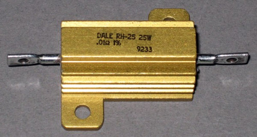 Power Resistor, .01 Ohm, 25 Watt, +/- 1% - RH-25 (Dale)