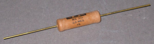 MS310 - 2.5 MEG 10W Non-Inductive Resistor, 4.5kV peak (Caddock)