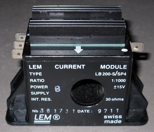 LB200-S/SP4 - 200A Current sensor / transducer (LEM) - Used