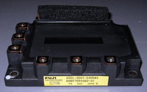 A50L-0001-0305#S (Fanuc) - Also: 6MBP75RH060-01 (Fuji) - IGBT-IPM - Used