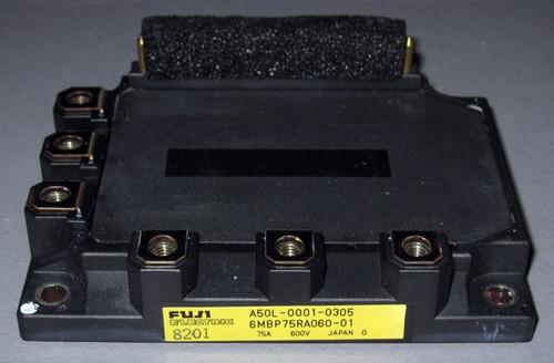 A50L-0001-0305 (Fanuc) - Also: 6MBP75RA060-01 (Fuji) - IGBT-IPM - Used