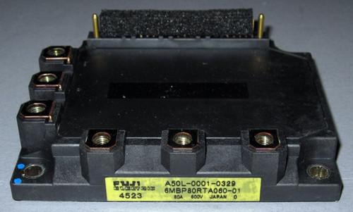 A50L-0001-0329 (Fanuc) - Also: 6MBP80RTA060-01 (Fuji) - IGBT-IPM - Used