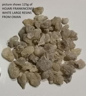 HOJARI FRANKINCENSE WHITE LARGE RESINS FROM OMAN 50grams edible