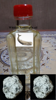 Whitish AMBERGRIS oil fragrance-non alcoholic (6cc)