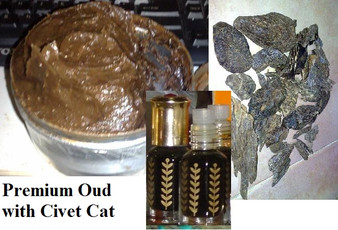 Premium mixed of Ethiopian Civet Cat musk with Vintage Cambodia Oud/Agarwood/Aloeswood oil 3grams