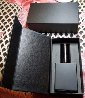 Free Shipping: Empty rectangle 1 oz matte black glass spray bottles for perfume x 8