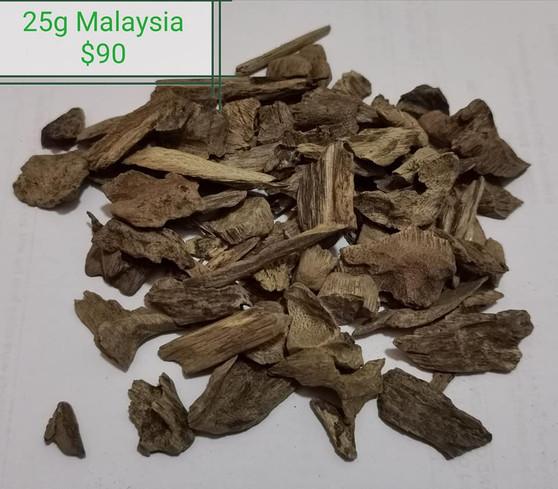 Agarwood/Aloeswood/Oud/Gahru chips, Malaysia 25 grams
