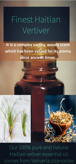 Haitian Finest Vetiver/KHUS essential oil - non alcoholic (12ml)