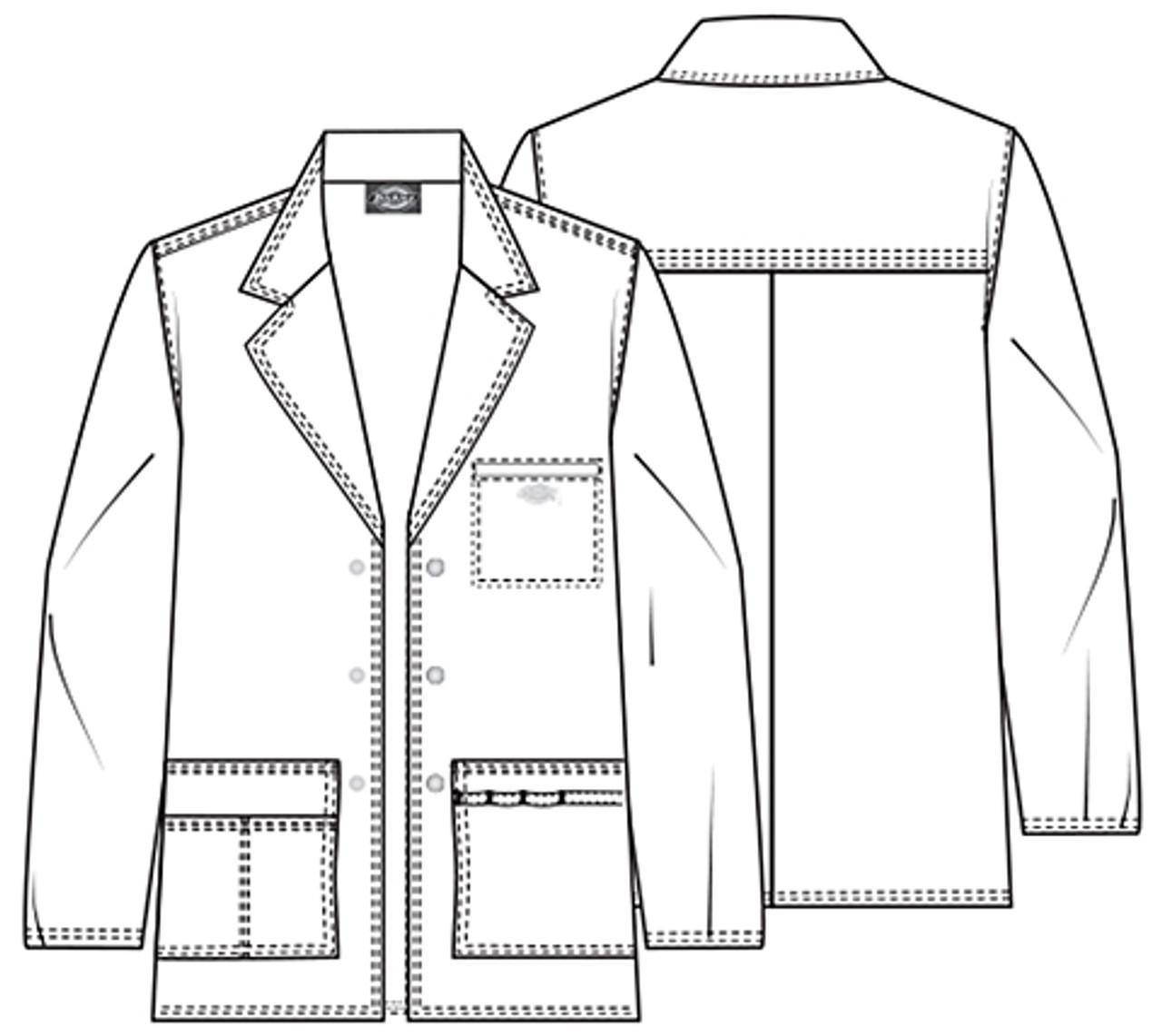 81403 Mens Lab Coat Details