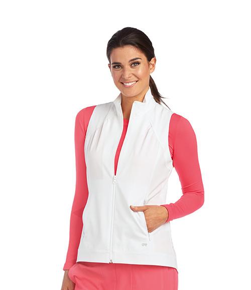 3a264a14e6c Barco One Shirred Princess Zip Vest - Everything Uniforms