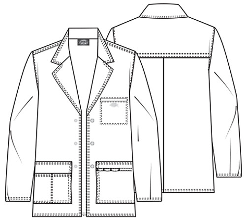 81403 Mens Lab Coat Details